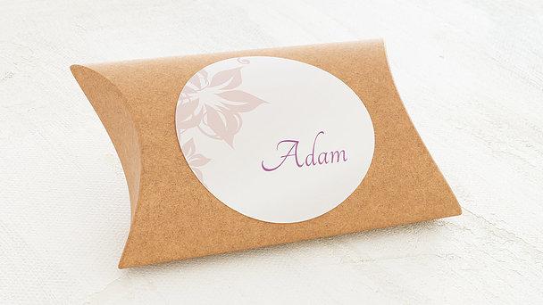 Geschenkaufkleber für Gastgeschenke - Weiße Hochzeit