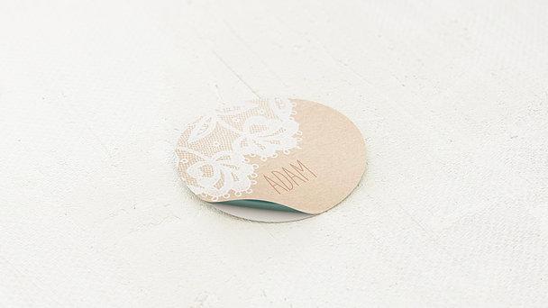 Geschenkaufkleber für Gastgeschenke - Pastellspitze