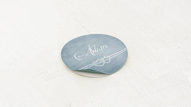 Geschenkaufkleber für Gastgeschenke - Liebesknoten