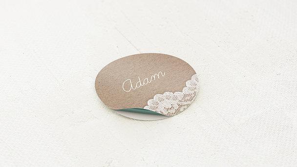 Geschenkaufkleber für Gastgeschenke - Hochzeitsspitze