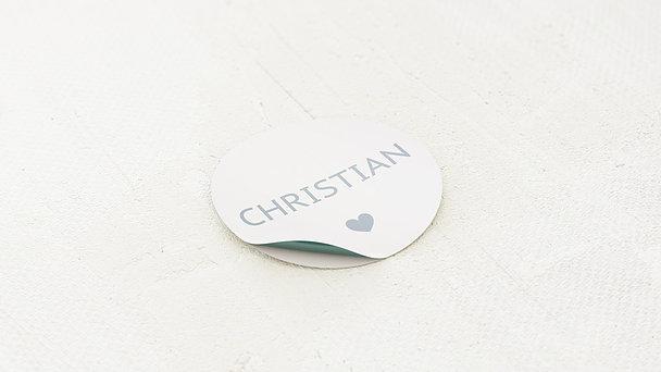 Geschenkaufkleber für Gastgeschenke - Einfach Ja