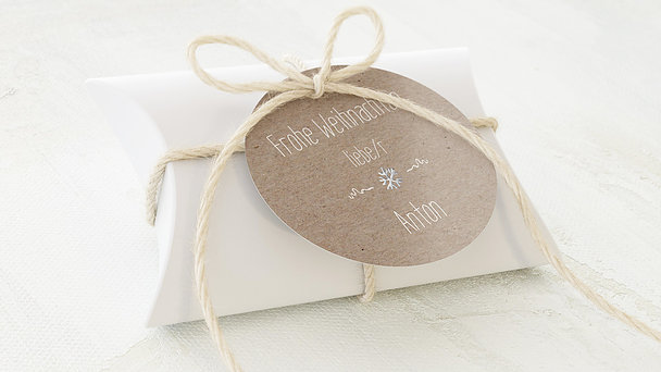 Geschenkanhänger Weihnachten - Rustique