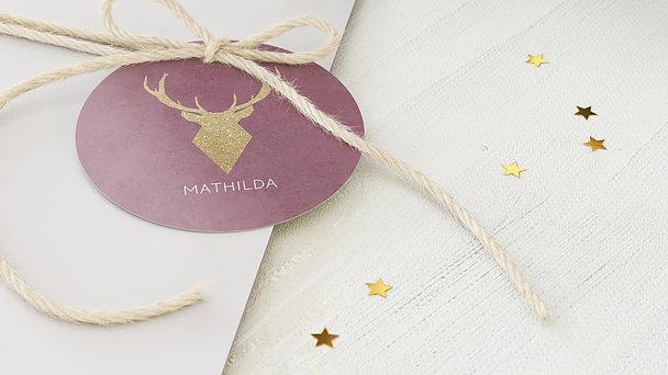 Geschenkanhänger Weihnachten - Goldener Hirsch