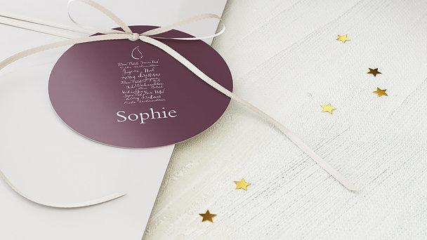 Geschenkanhänger Weihnachten - Buchstabenkerze