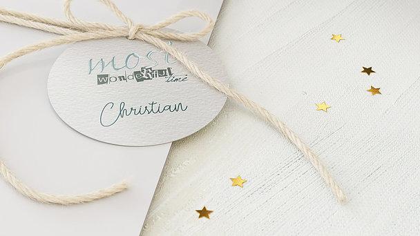 Geschenkanhänger Weihnachten - Wintercollage