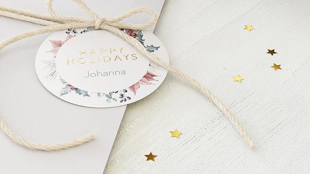 Geschenkanhänger Weihnachten - Happy Holidays