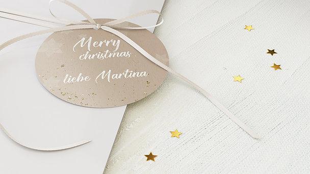 Geschenkanhänger Weihnachten - Zimt und Sterne