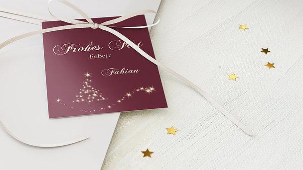 Geschenkanhänger Weihnachten - Lichtflut