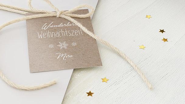 Geschenkanhänger Weihnachten - Weihnachtskasterl