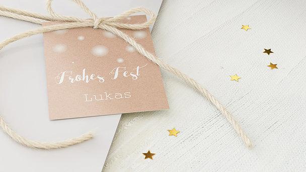 Geschenkanhänger Weihnachten - Wintermärchen