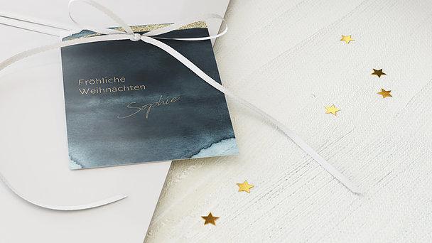 Geschenkanhänger Weihnachten - Blaupause