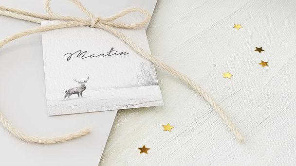 Geschenkanhänger Weihnachten - Der Elch