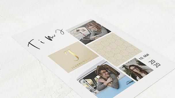 Jugendweihe Karten - Würfelgitter