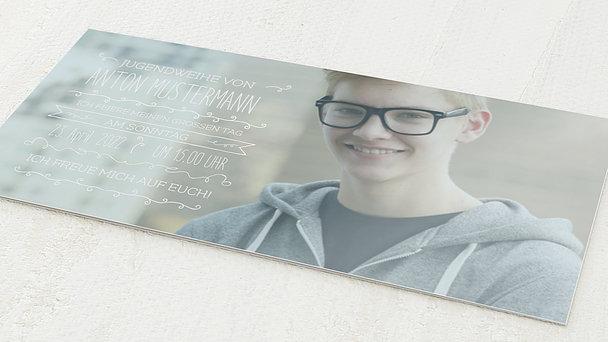 Jugendweihe Karten - Freudestrahlend