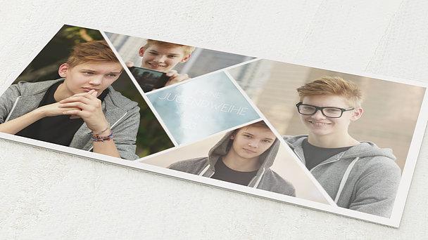 Jugendweihe Karten - Bunt gefächert