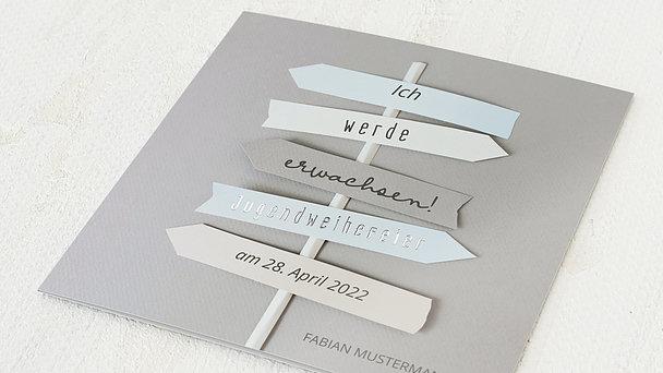Jugendweihe Karten - Wegweiser