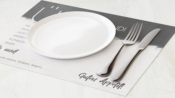Tischset Geburtstag - Neuer Anstrich