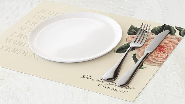 Tischset Geburtstag - Kamelie