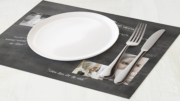 Tischset Geburtstag - Jahrestafel 60