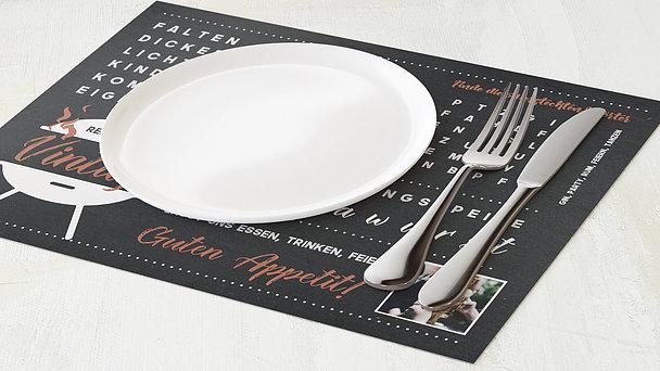 Tischset Geburtstag - Grill & Chill