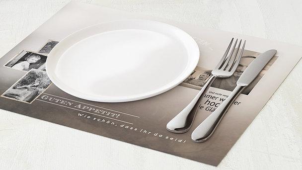 Tischset Geburtstag - Alte Zeiten 60