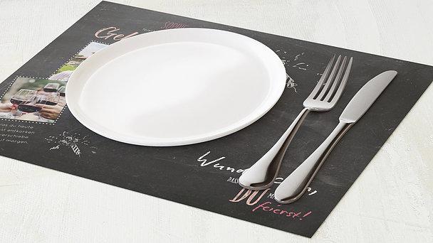 Tischset Geburtstag - Ankündigung