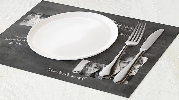 Tischset Geburtstag - Jahrestafel  30