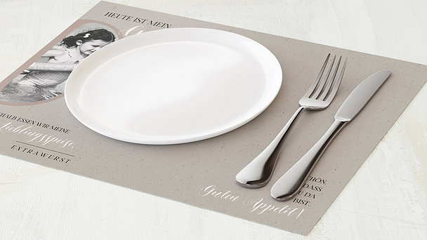 Tischset Geburtstag - My time