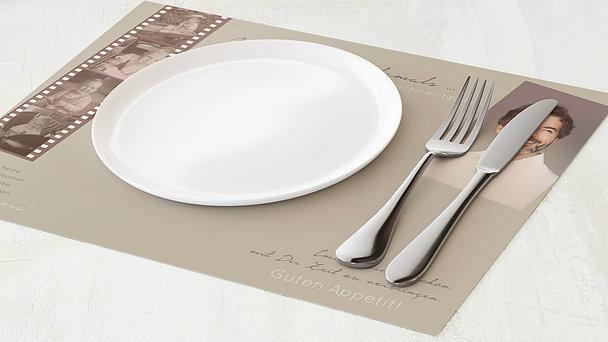 Tischset Geburtstag - Retrospektive