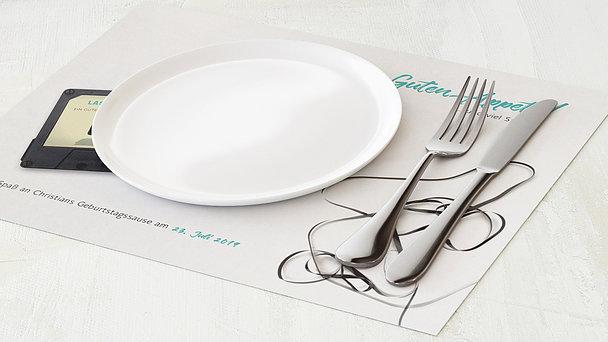 Tischset Geburtstag - Tonträger