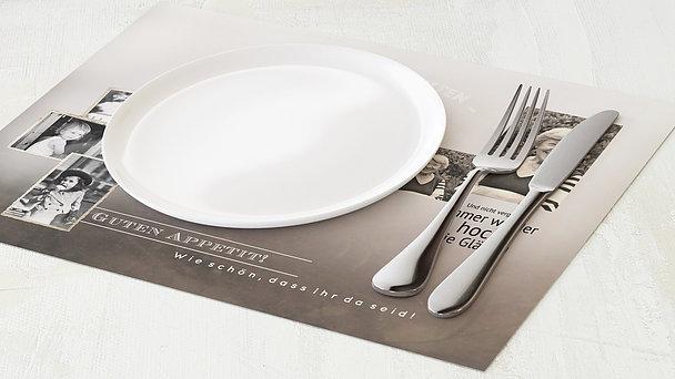 Tischset Geburtstag - Alte Zeiten 80
