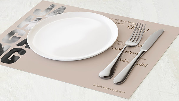 Tischset Geburtstag - Jahrgang