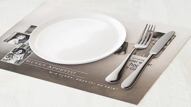 Tischset Geburtstag - Alte Zeiten