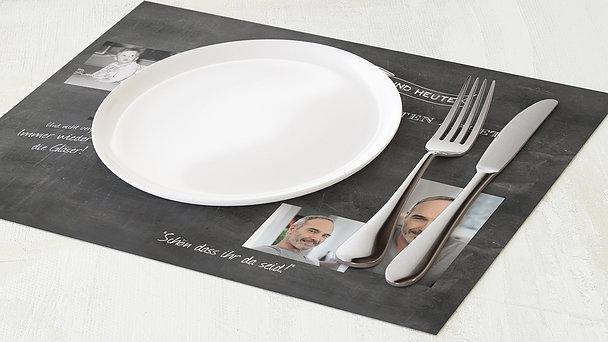 Tischset Geburtstag - Jahrestafel 50