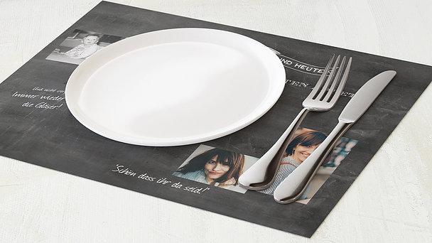 Tischset Geburtstag - Jahrestafel