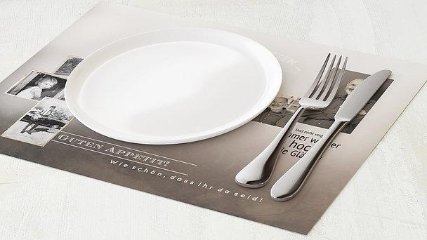 Tischset Geburtstag - Alte Zeiten 70