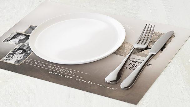 Tischset Geburtstag - Alte Zeiten 50