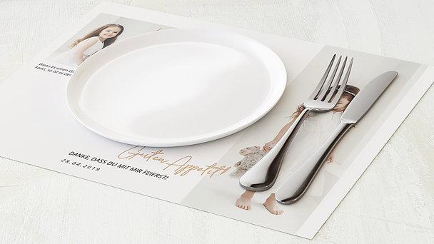 Tischset Kommunion - Elegante Freude