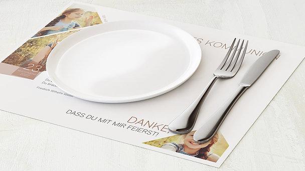 Tischset Kommunion - Traumtag