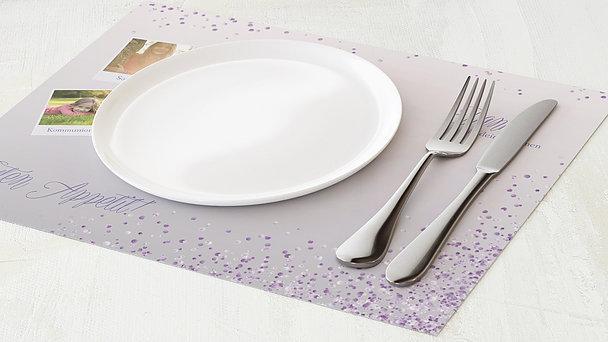 Tischset Kommunion - Geflitter Kommunion