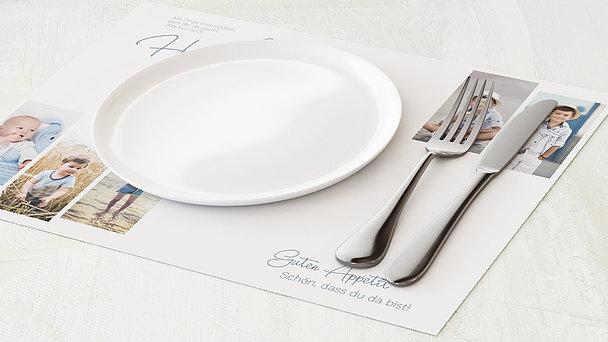 Tischset Kommunion - So schnell groß