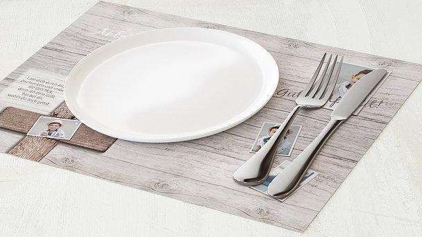 Tischset Kommunion - Kreuz mit Fotos