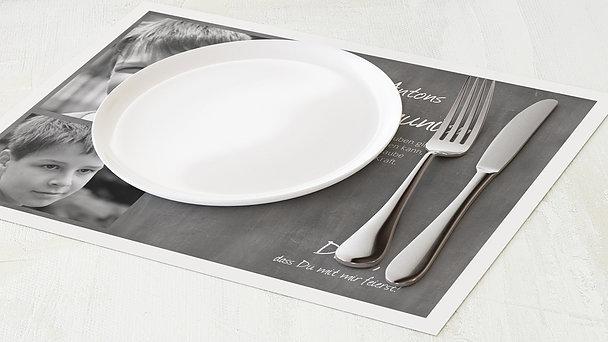 Tischset Kommunion - Getäfelt jung