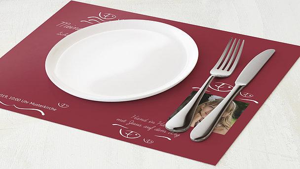 Tischset Kommunion - Wellig
