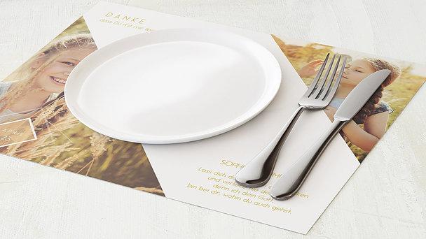 Tischset Kommunion - Bunt gefächert