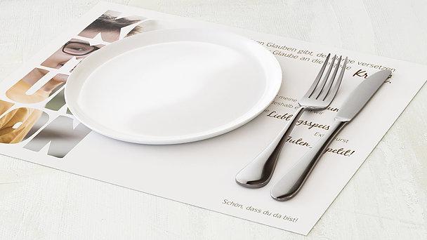 Tischset Kommunion - Fototext