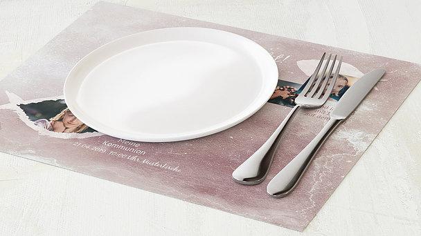Tischset Kommunion - Fisch im Wasser