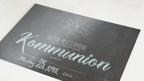 Danksagungen zur Kommunion - Ankündigung
