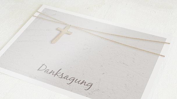 Danksagungen zur Kommunion - Holzkreuz