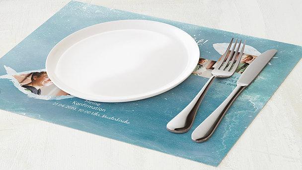 Tischset Konfirmation - Fisch im Wasser